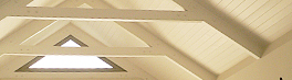exposed timber roof trusses